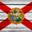 Florida State Flag on wood background — Stock Photo #61759075