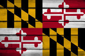 Maryland State Flag on wood background — Stock Photo