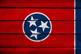 Tennessee State Flag on wood background — Stock Photo