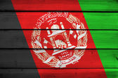 Afghanistan Flag on wood background — Stock Photo