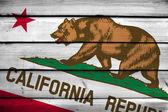 加利福尼亚州州旗上木背景 — 图库照片