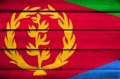 Eritrea Flag on wood background — Stock Photo
