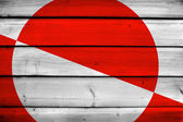 Greenland Flag on wood background — Stock Photo