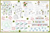Placemat Christmas Printable Activity Sheet 7 — Vector de stock