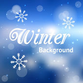Abstract blue winter background with snowflakes — Stock Vector