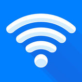 Wi-fi signal isolated — Vettoriale Stock