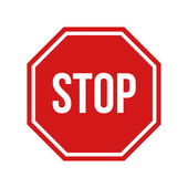Red stop sign — Stock Vector