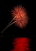 Coney Island Beach Fireworks — Stock Photo