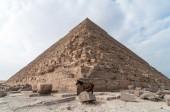 Egyptian Pyramids of the Giza Plateau, Cairo — Stock Photo