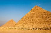 Pyramides du plateau de Gizeh, le Caire — Photo