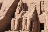 Abu Simbel on the border of Egypt and Sudan — Stock Photo