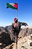 Jordanian Flag in Petra, Jordan  — Stock Photo