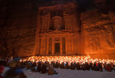 Petra, Jordan at Night — Stock Photo