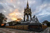 Memorial de albert, londres ao pôr do sol — Fotografia Stock