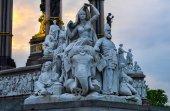 Statue by Albert Memorial, London — Stock Photo