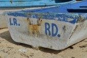 Boat of Macao Beach, Punta Cana, Dominican Republic — Stock Photo