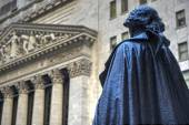 George Washington, Federal Hall, Wall St, Manhattan, NY — Stock Photo
