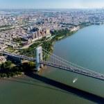 Aerial View of George Washington Bridge, New York & New Jersey — Stock Photo #56439545