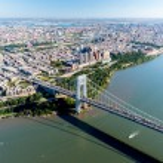 Aerial View of George Washington Bridge, New York & New Jersey — Stock Photo #56439681