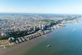 вид с воздуха на манхэттен, нью-йорк — Стоковое фото