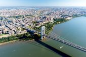Aerial View of George Washington Bridge, New York & New Jersey — Stockfoto