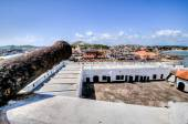 Ghana: Cannons of Elmina Castle World Heritage Site, History of  — Stock Photo