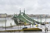 Liberty Bridge - Budapest, Hungary — Stock Photo