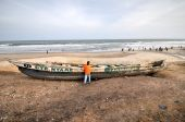 Fishing Boat - Accra, Ghana — Stock Photo