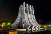 Kwame Nkrumah Memorial Park at night - Accra, Ghana — Stock Photo