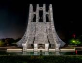 Kwame Nkrumah Memorial Park at night - Accra, Ghana — Stock Photo