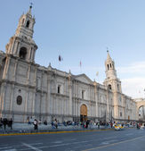 Arequipa Cathedral and Plaza de Armas, Peru — Stock Photo