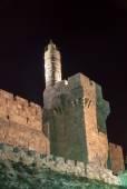 Tower of David, Jerusalem at night — Stock Photo