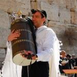 Bar Mitzvah at Western Wall, Jerusalem — Stock Photo #63822281