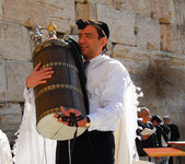 Bar Mitzvah at Western Wall, Jerusalem — Stock Photo