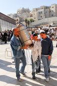 Bar Mitzvah at Western Wall, Jerusalem — Stock Photo