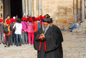 Orthodox Priest, Holy Sepulchre Church, Jerusalem — Stock Photo