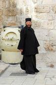 Orthodox Priest, Holy Sepulchre Church, Jerusalem — Stock Photo