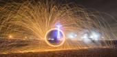 Burning Steel Wool  — Stockfoto