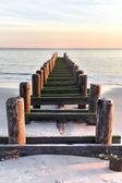 Coney Island Beach at Sunset. — Stock Photo
