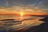 Coney Island Beach al tramonto. — Foto Stock