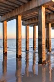 Coney Island Beach at Sunset — Stock Photo