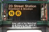 23rd Street Subway Station, New York — Stock Photo