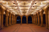 Bethesda Terrace at Night, Central Park — Stock Photo