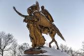 William Sherman Monument - Central Park, New York — Stock Photo