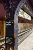 Brighton Beach Subway Station — Stock Photo