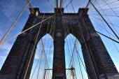 Brooklyn Bridge, Winter - New York CIty — Stock Photo