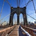 Brooklyn Bridge, Winter - New York CIty — Stock Photo #66221403