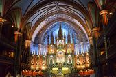 Basílica de Notre Dame - Montreal, Canadá — Fotografia Stock