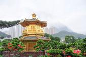 Golden Pavilion of Nan Lian Garden, Hong Kong — Stock Photo