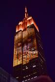 Empire State Building - Racing Extinction — Stock Photo